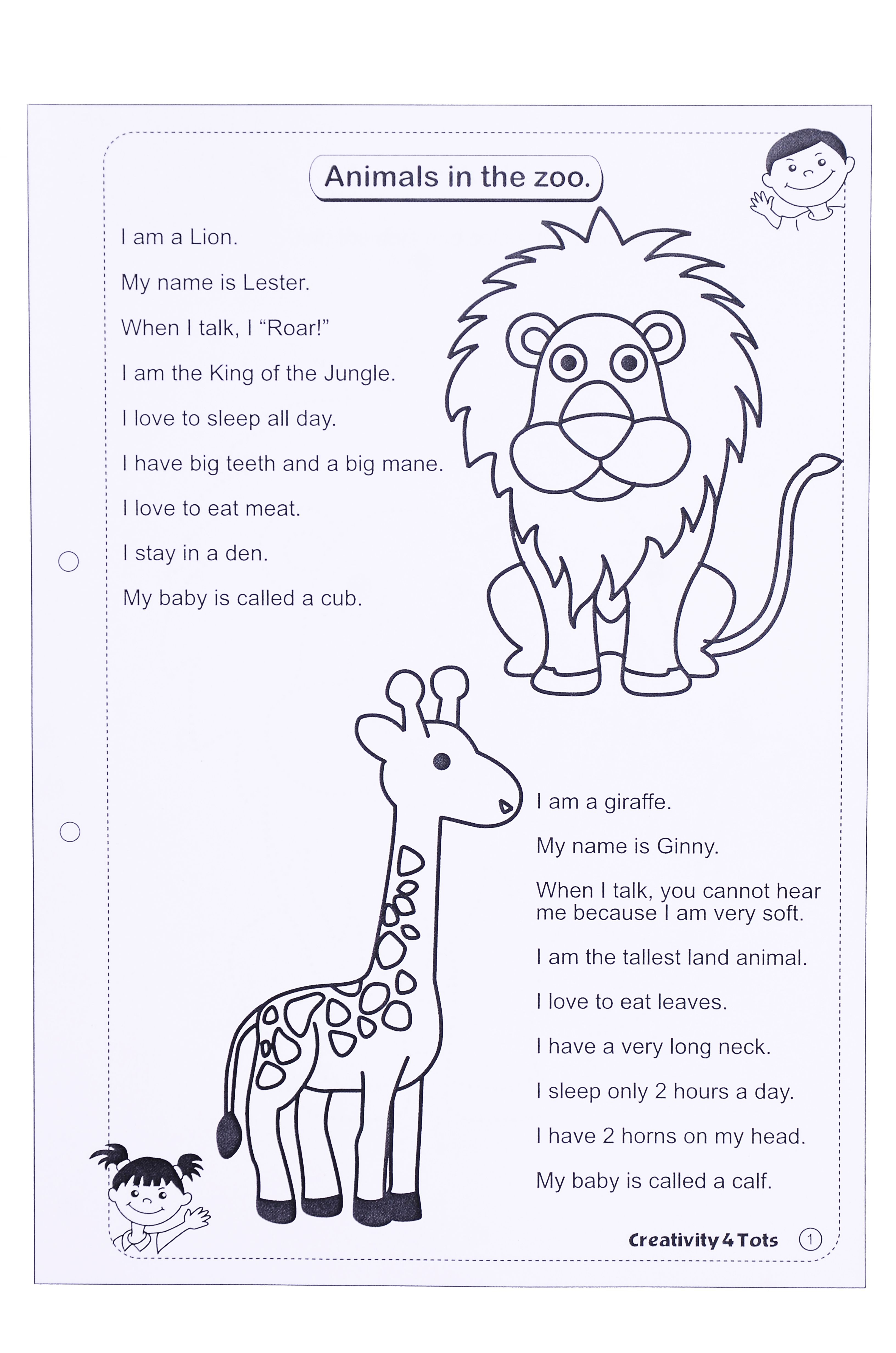 Zoo Animals Worksheet - This Worksheet Is Designed To Teach The - Free Printable Zoo Worksheets