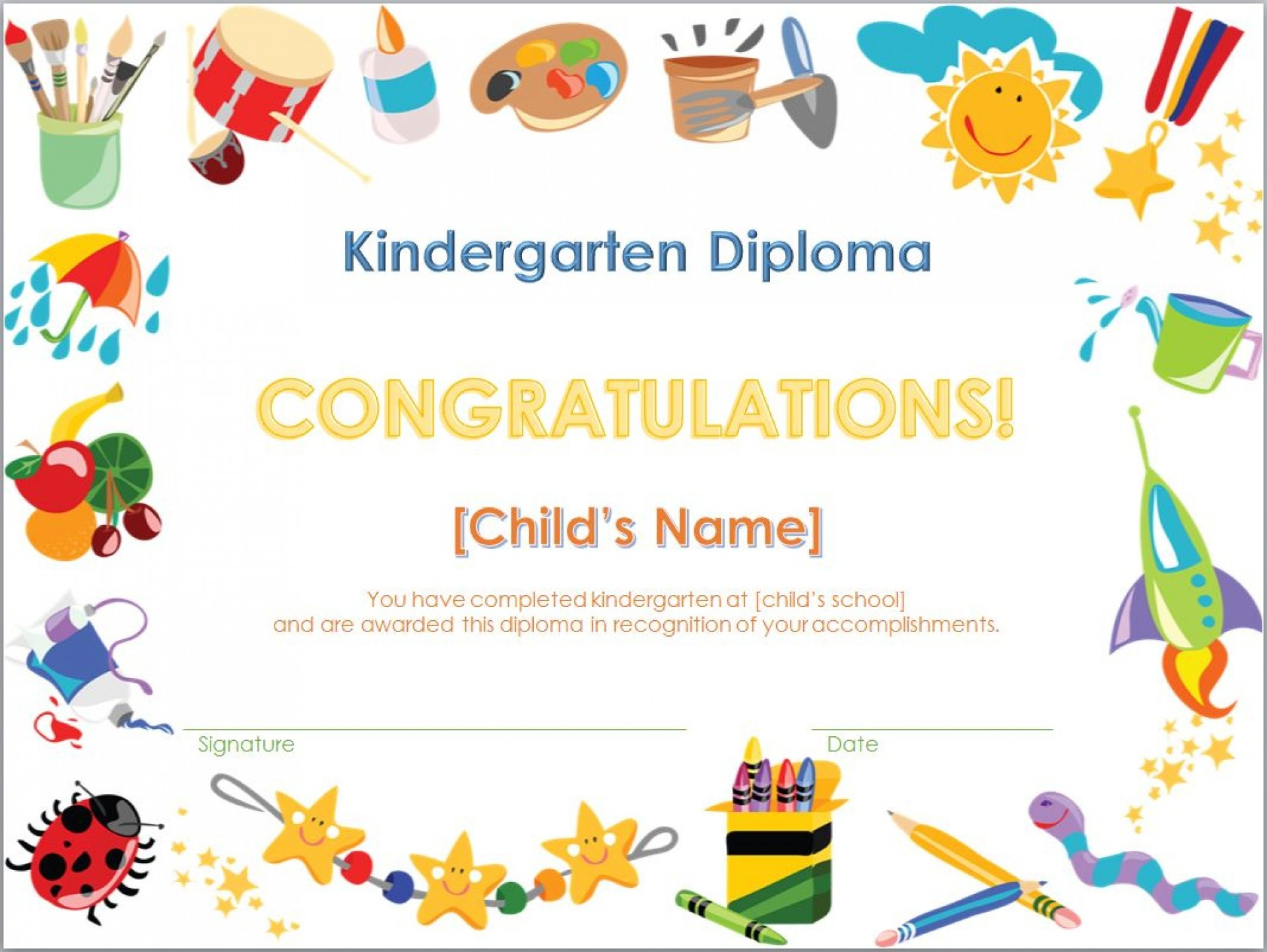 002 Certificate Template Free Printable Templates Diploma Wonderful - Free Printable Children's Certificates Templates