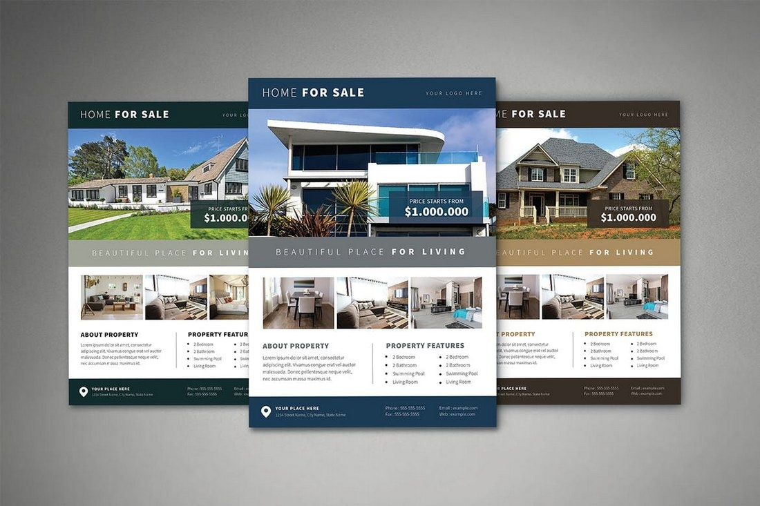 006 Real Estate Flyer Template Psd Ideas Flyers Wonderful Templates - Free Printable Real Estate Flyer Templates