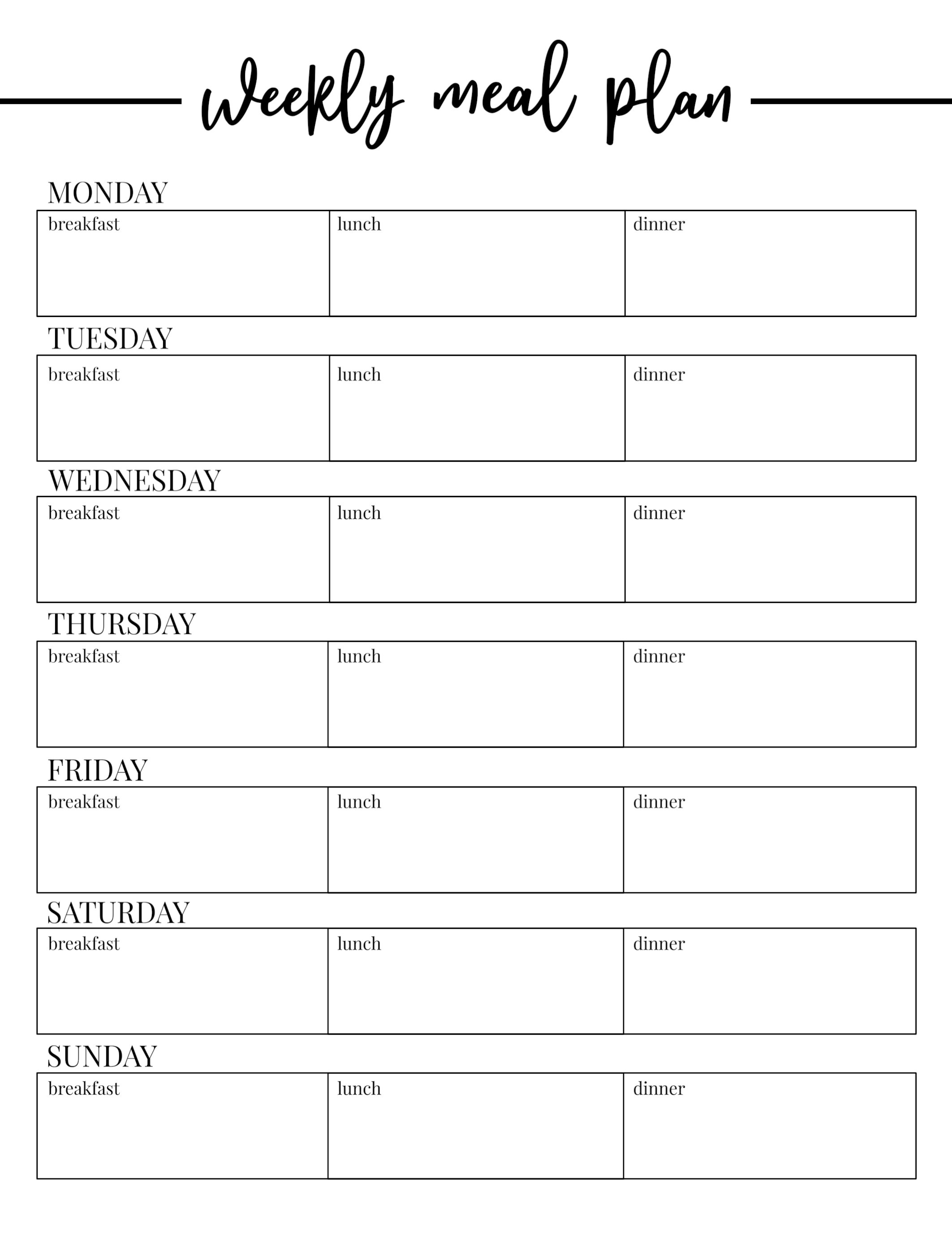 006 Template Ideas Weekly Meal Plan Singular Free Monthly Planning - Free Printable Meal Plans For Weight Loss