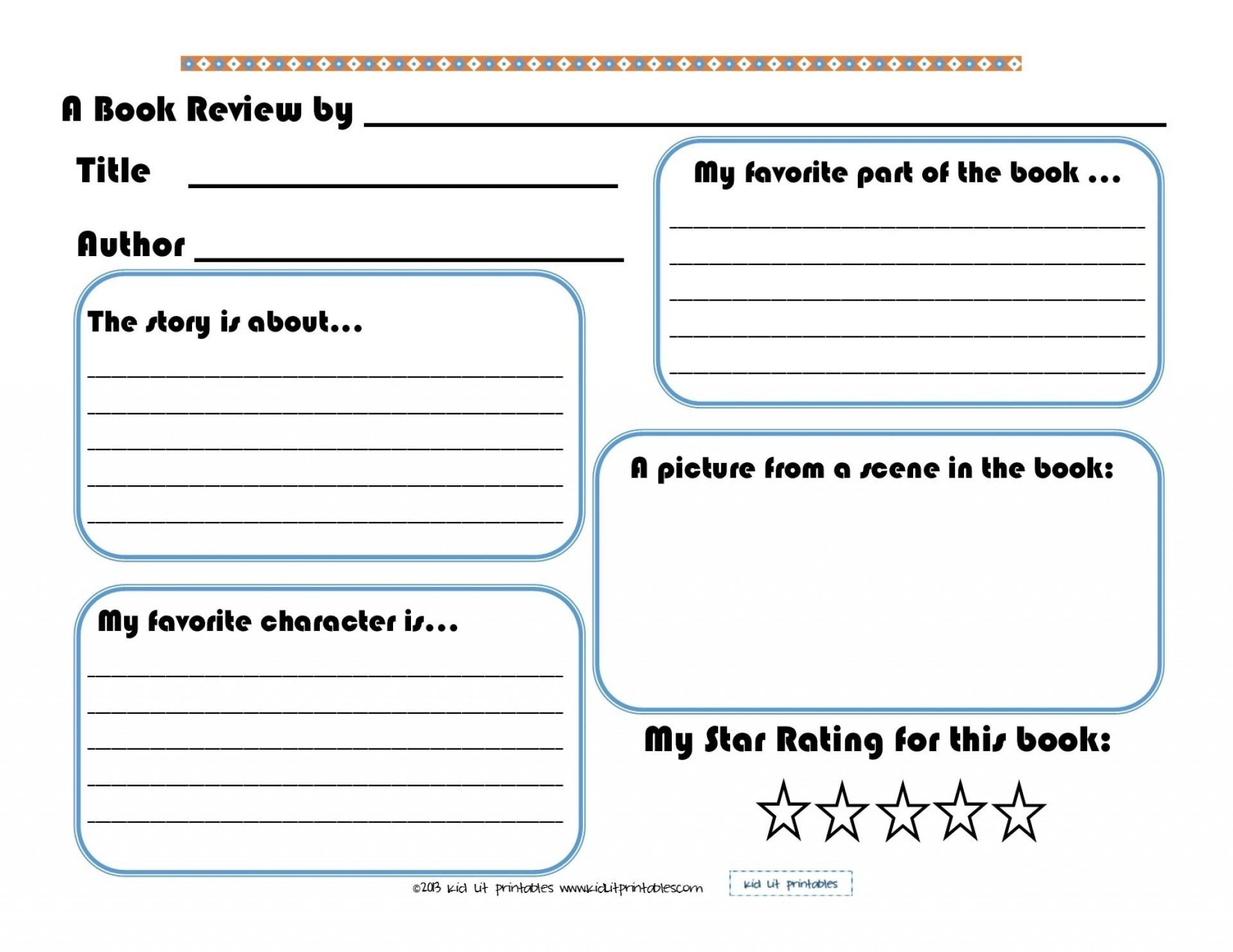 009 Best Images Of Printable Elementary Book Report Forms Pertaining - Free Printable Book Report Forms For Elementary Students