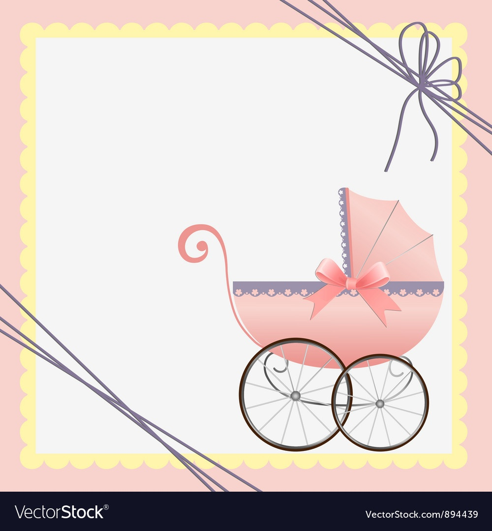 012 Cute Template For Baby Card Vector Free Printable Cards - Free Printable Baby Cards Templates