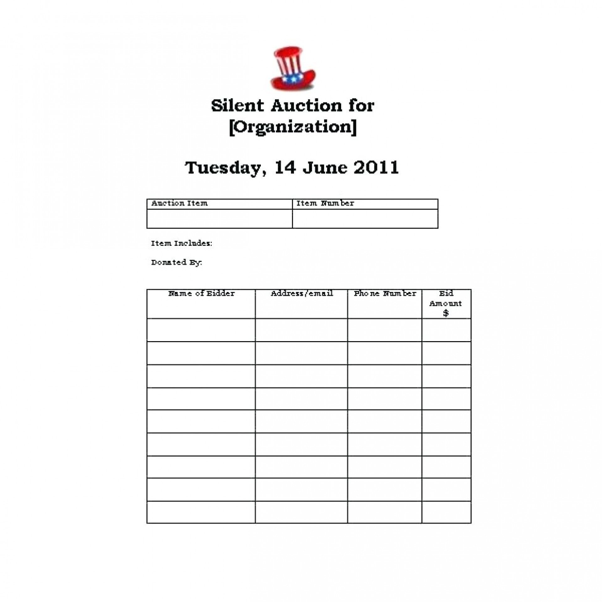 015 Silent Auction Forms Templates Sign Up Sheets Bid Sheet - Free Printable Silent Auction Bid Sheets
