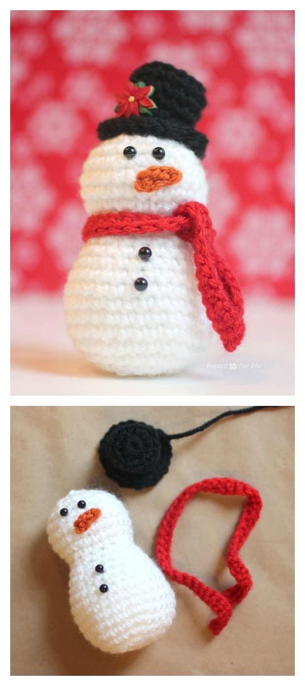 10 Crochet Amigurumi Snowman Free Patterns | Crochet | Crochet - Free Printable Christmas Crochet Patterns