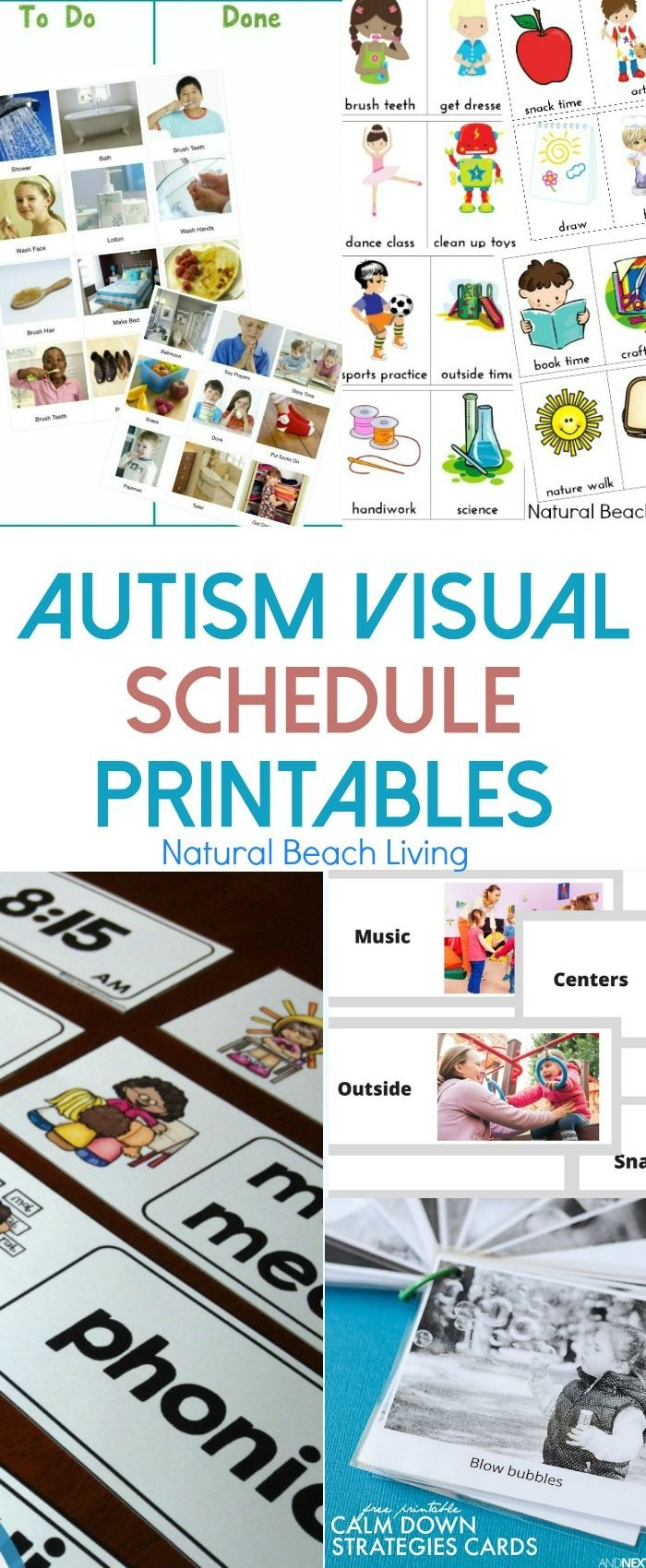 10+ Free Autism Visual Schedule Printables To Try Right Now | Super - Free Printable Picture Schedule For Preschool