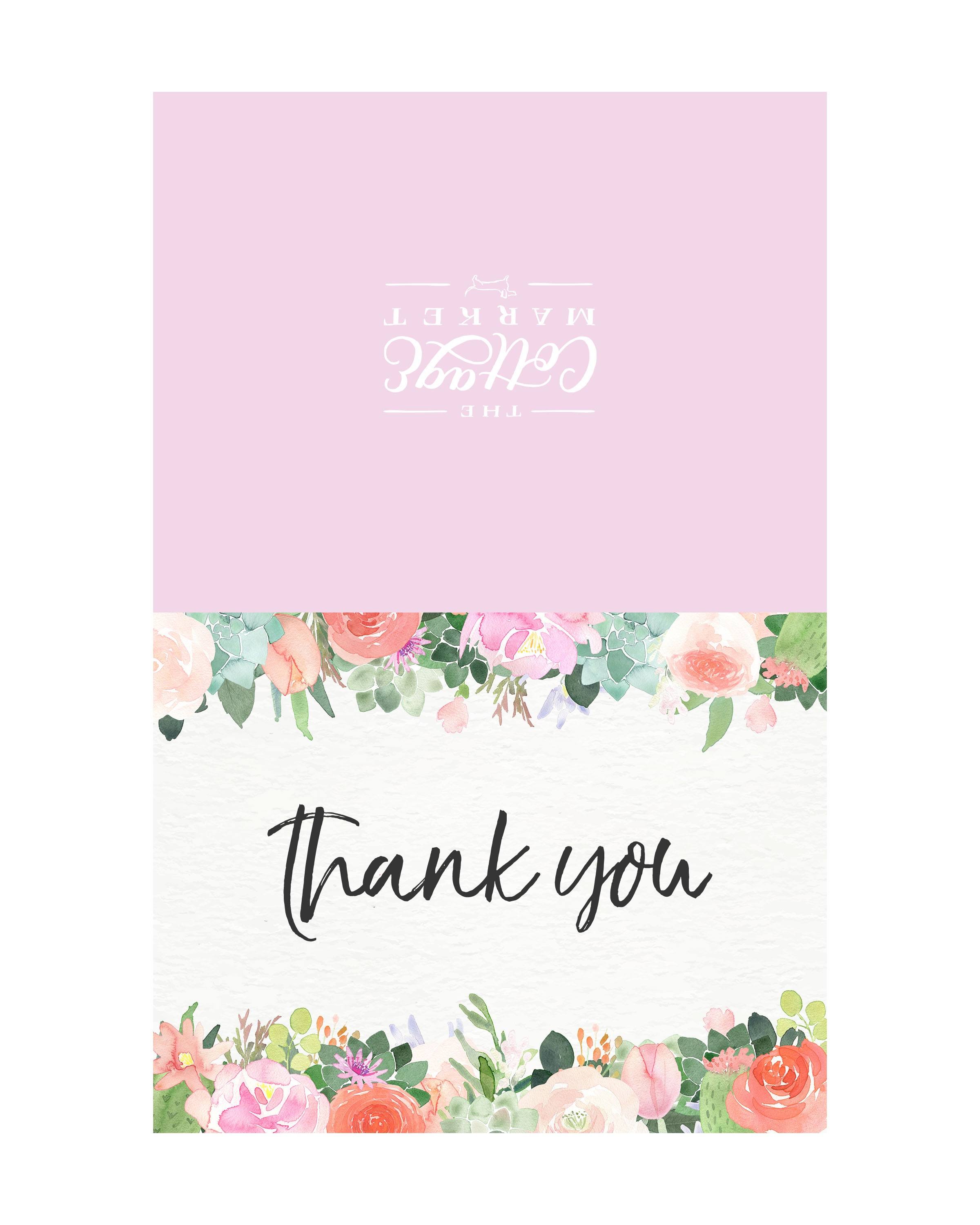 10 Free Printable Thank You Cards You Can't Miss - The Cottage Market - Free Printable Thank You