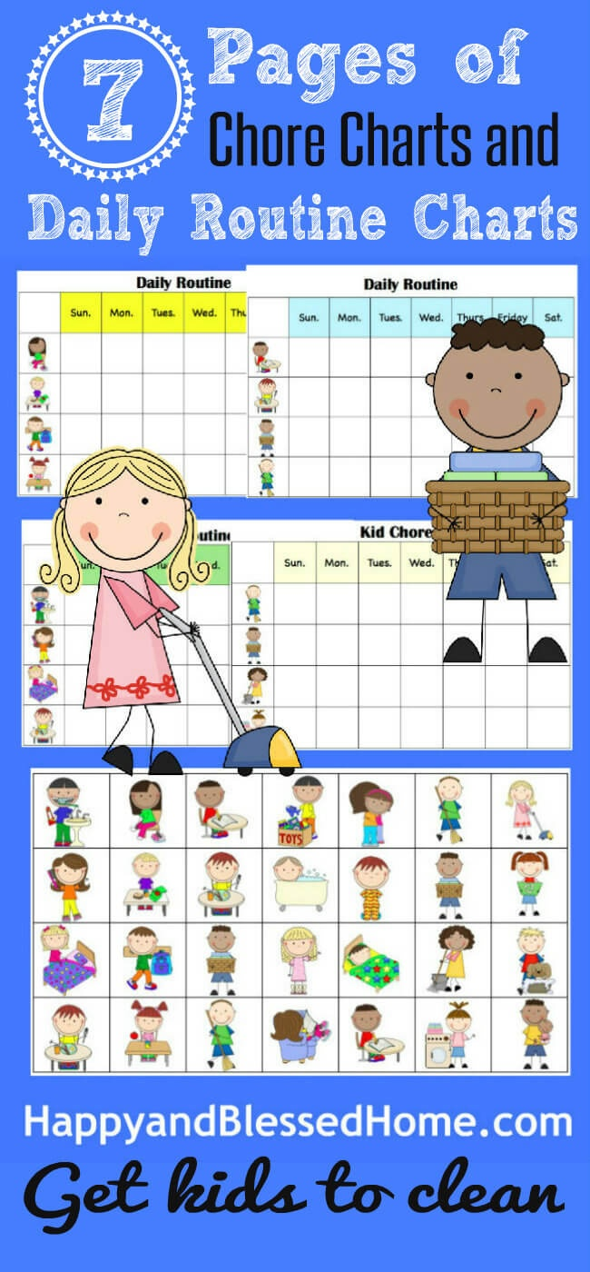 10 Minutes To Clean And Free Printable Chore Charts For Kids - Free Printable Charts For Kids