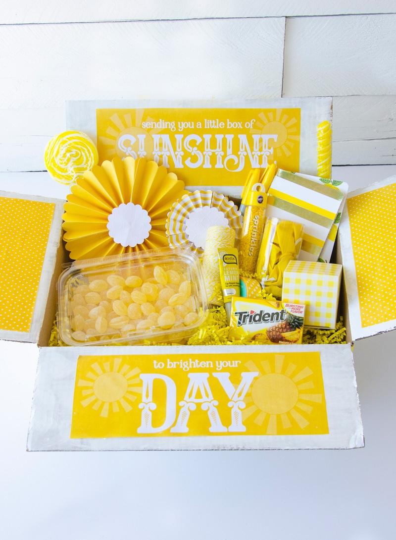 10 Things To Put In A Sunshine Boxlindi Haws Of Love The Day - Box Of Sunshine Free Printable