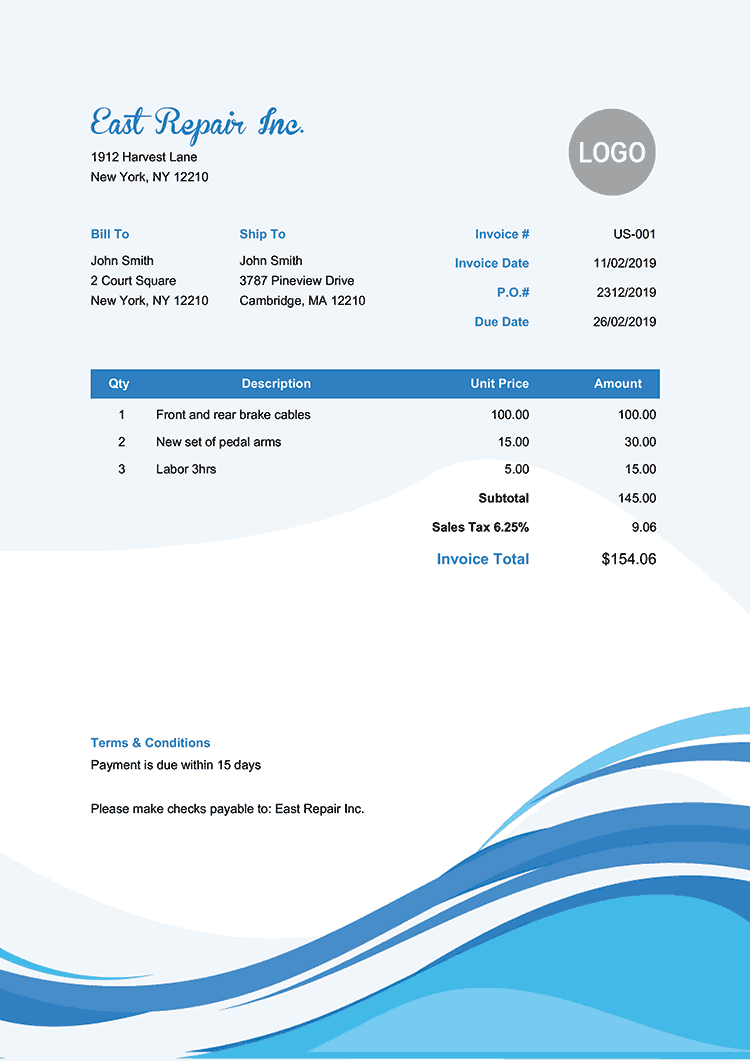 100 Free Invoice Templates | Print & Email As Pdf | Fast & Secure - Free Invoices Online Printable