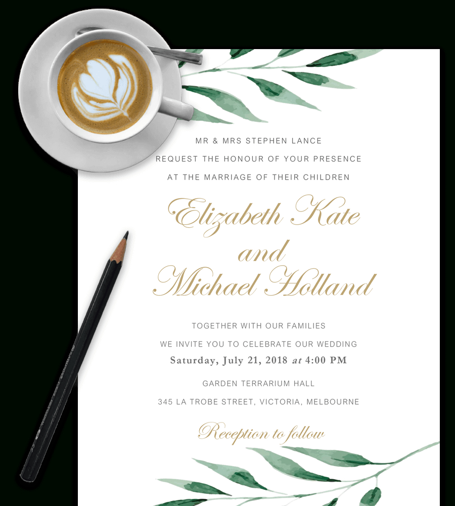 100% Free Wedding Invitation Templates In Word [Download & Customize] - Free Printable Wedding Invitation Templates For Word