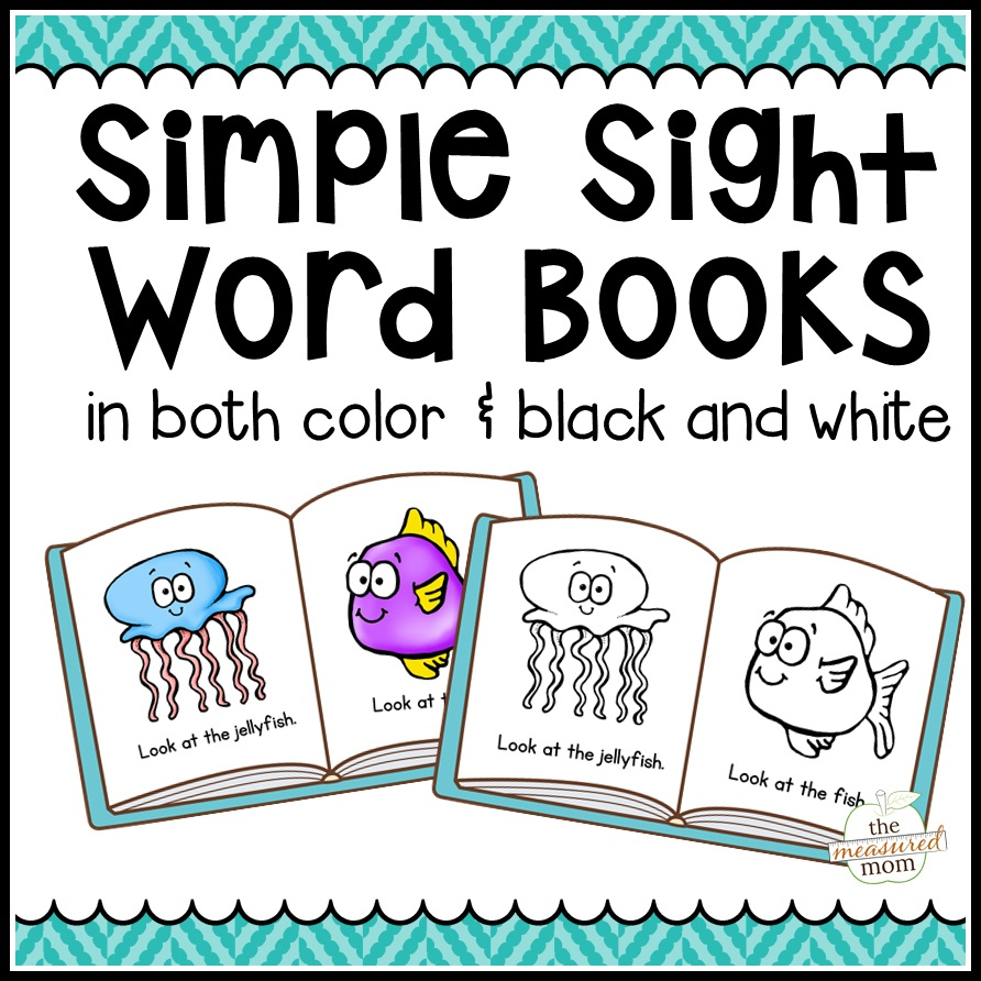 104 Simple Sight Word Books In Color & B/w - The Measured Mom - Free Printable Phonics Books For Kindergarten