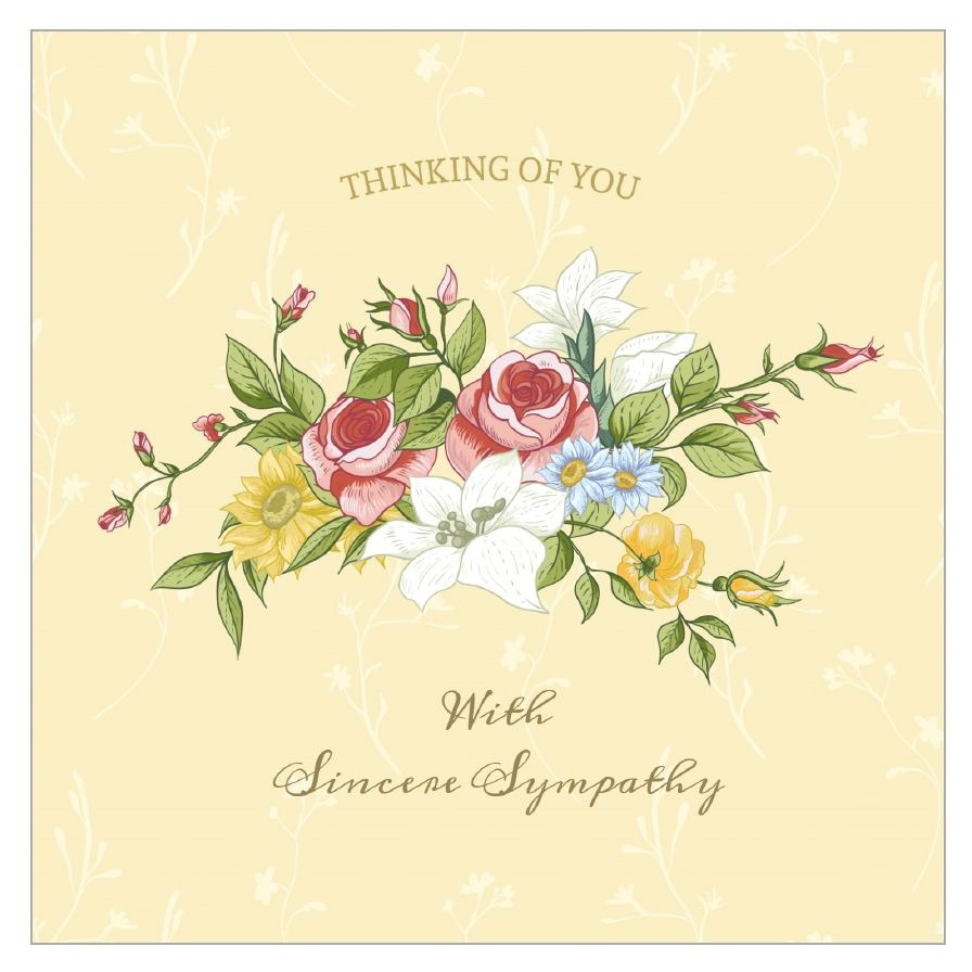11 Free, Printable Condolence And Sympathy Cards - Free Printable Thinking Of You Cards