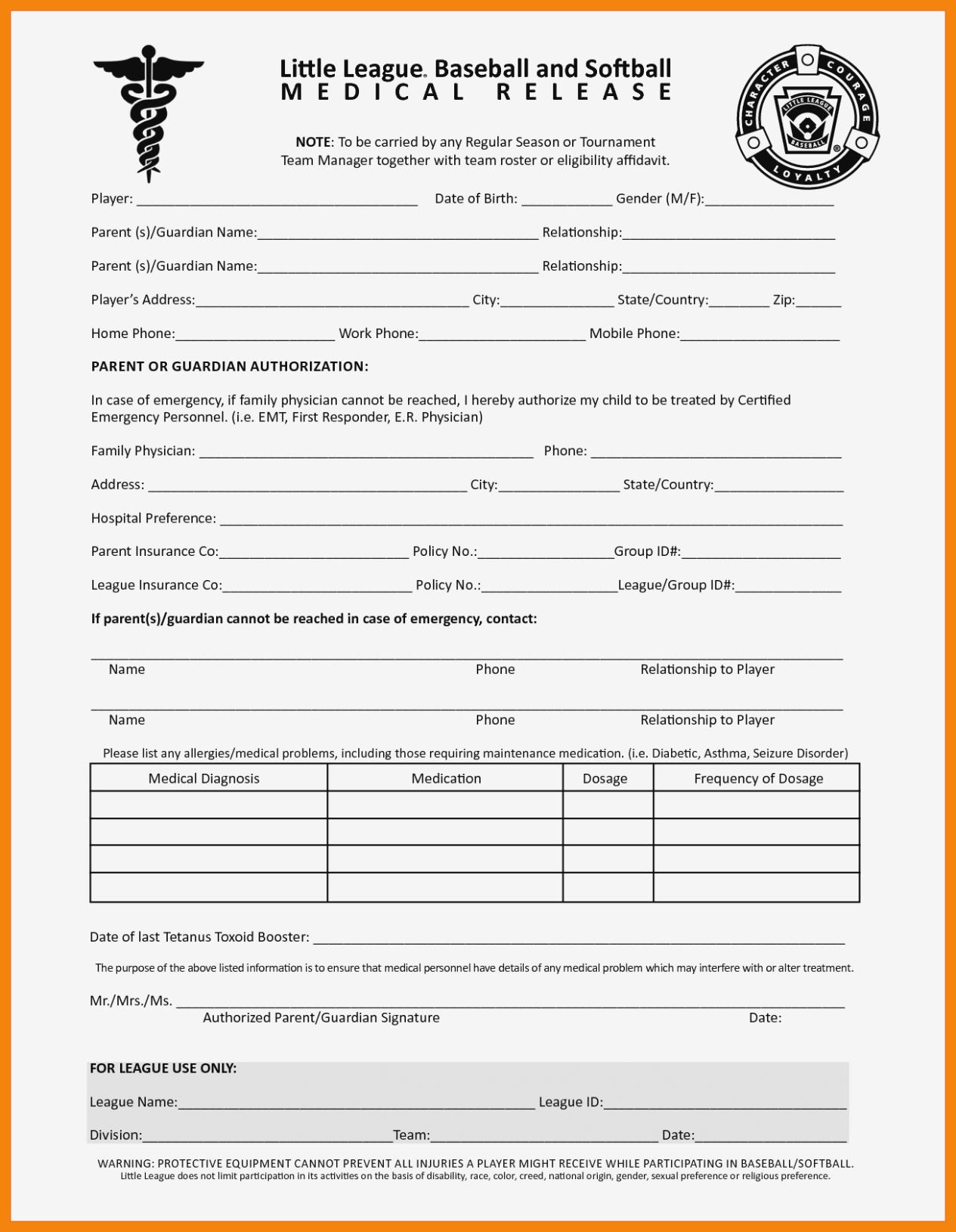 11 Free Printable Medical Forms   St Columbaretreat House – Free - Free Printable Medical Forms
