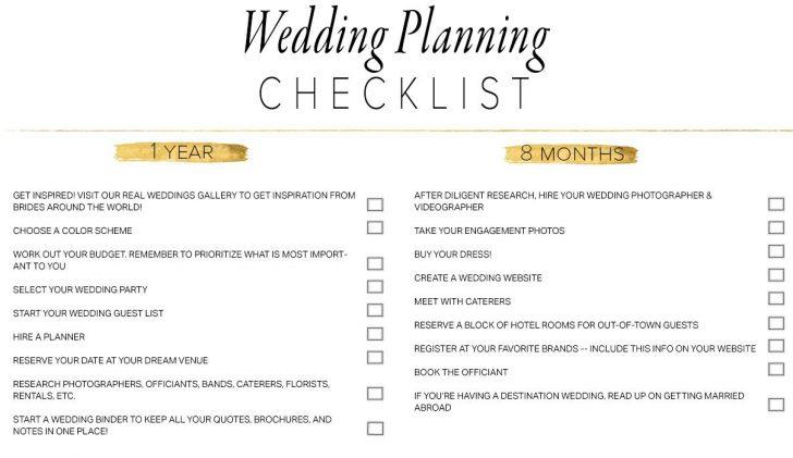 Free Printable Wedding Checklist