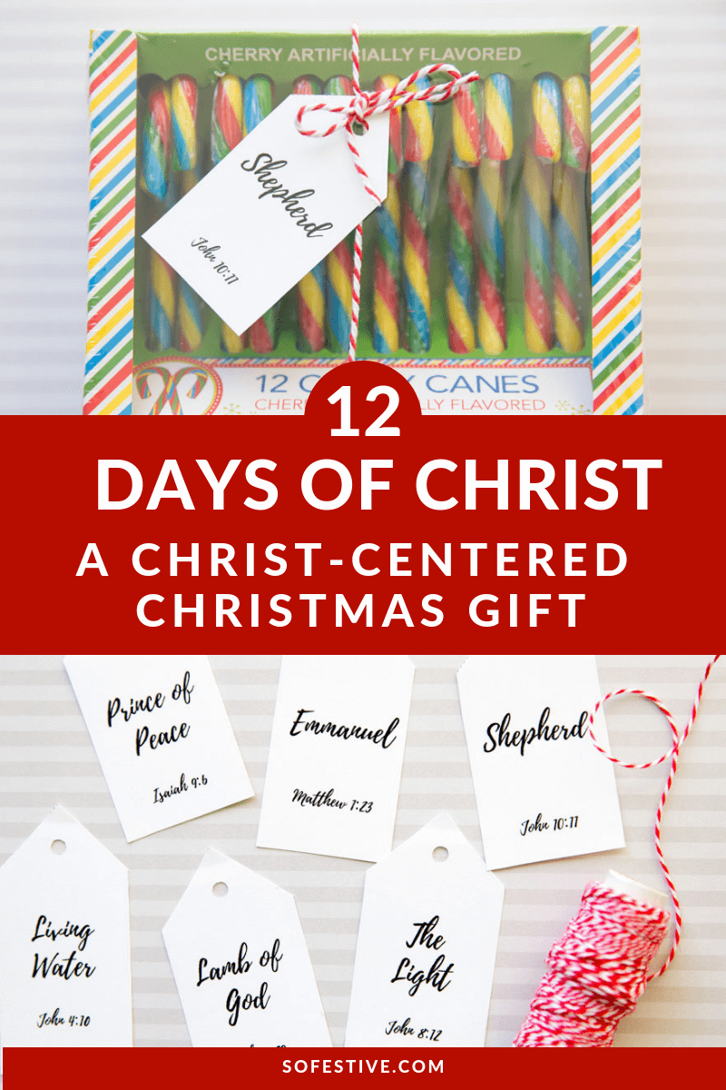 12 Days Of Christ- Christ-Centered Christmas Gift Idea - So Festive! - Free Printable 12 Days Of Christmas Gift Tags