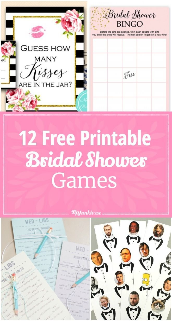 12 Free Printable Bridal Shower Games | Party Time | Free Bridal - Free Printable Bridal Shower Blank Bingo Games