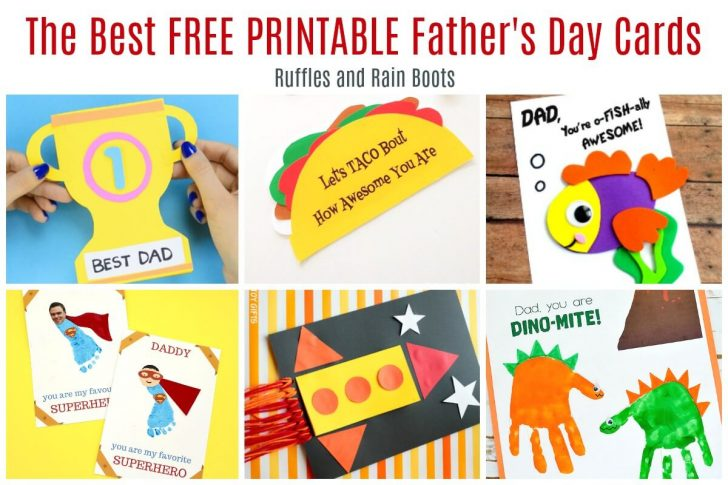 Free Printable Fathers Day Cards For Preschoolers