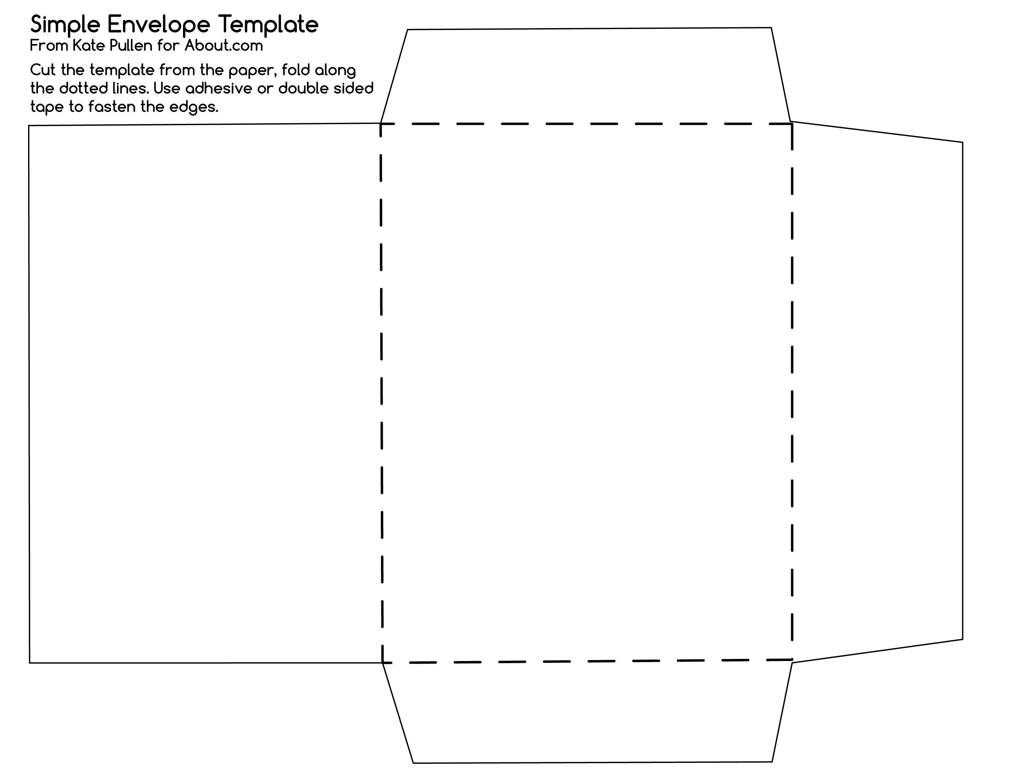 12 Free Printable Templates   D I Y   Diy Envelope Template - Free Printable Greeting Card Envelope Template