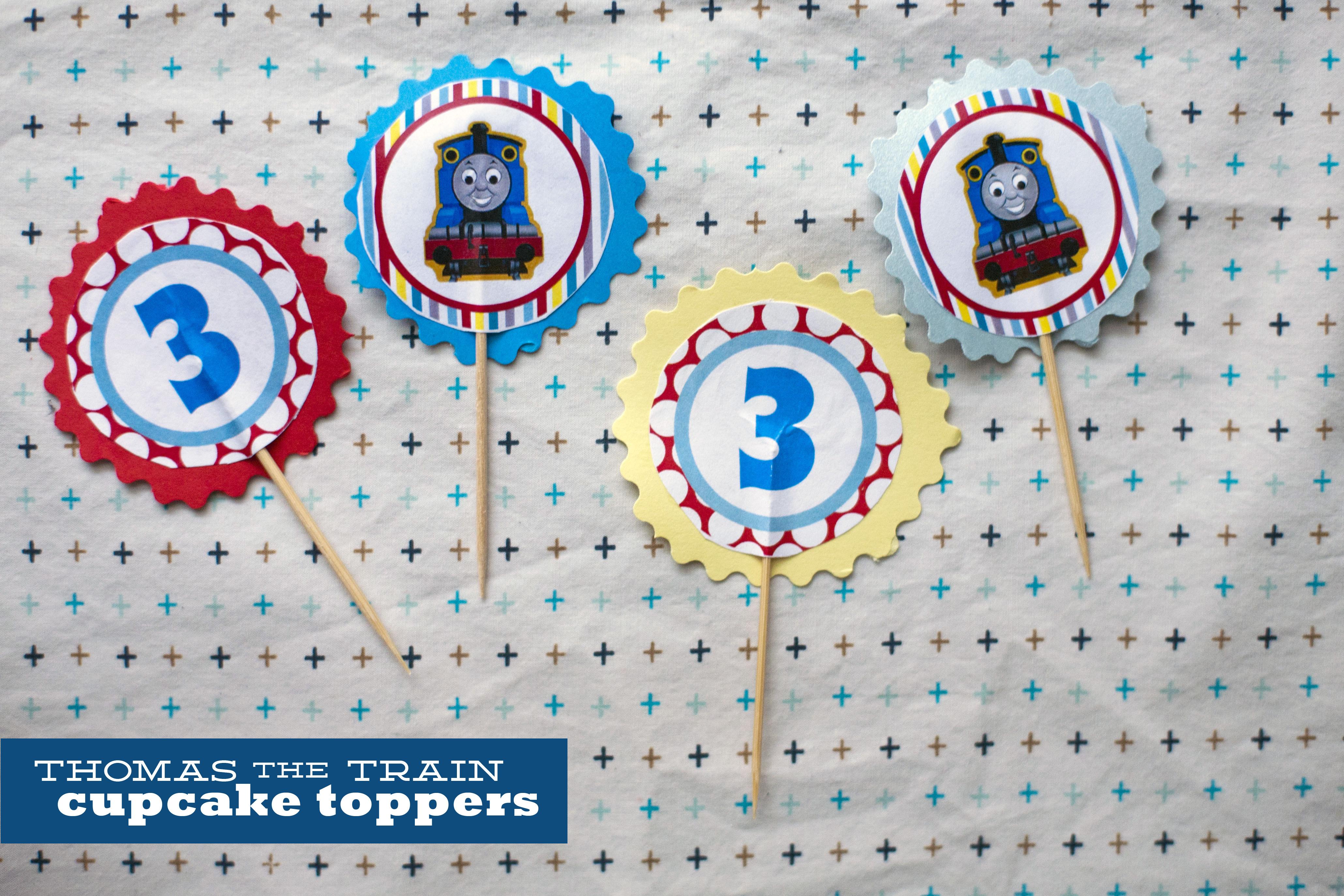 126. Thomas Cupcake Toppers.   Make Great - Free Printable Thomas The Train Cupcake Toppers