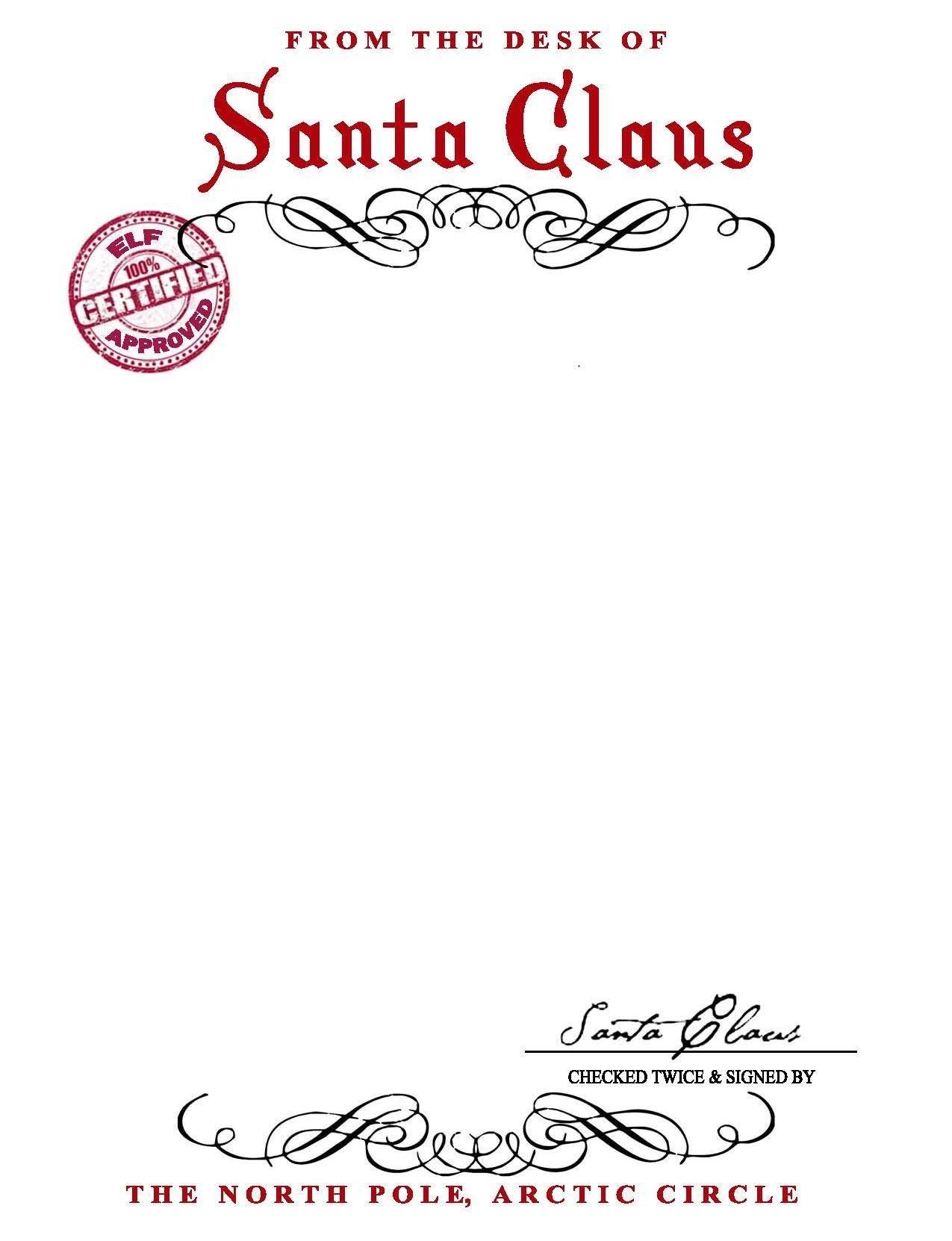 13 Best Images Of Free Printable Santa Letter Stationary - Santa - Free Printable Santa Letter Paper