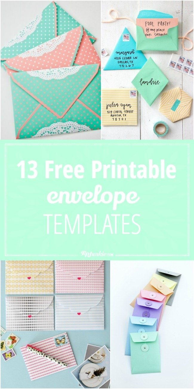 13 Free Printable Envelope Templates – Tip Junkie - Free Printable Envelopes