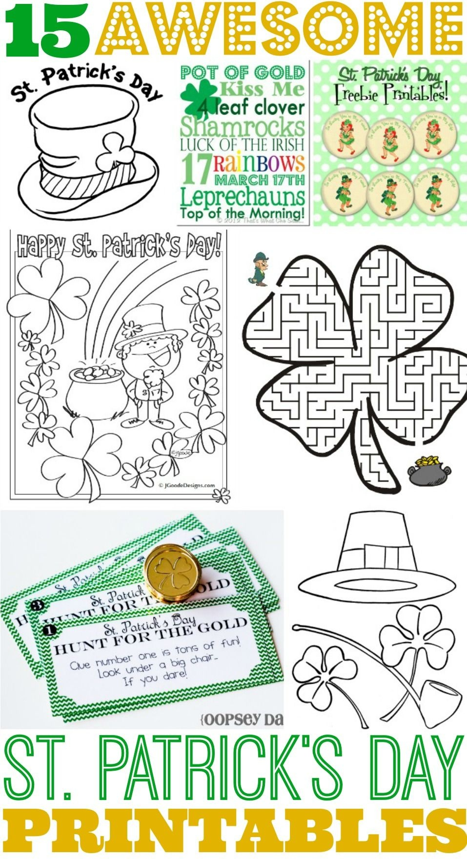 15 Awesome St. Patrick's Day Free Printables For Kids | Saint - Free Printable St Patrick's Day Mazes