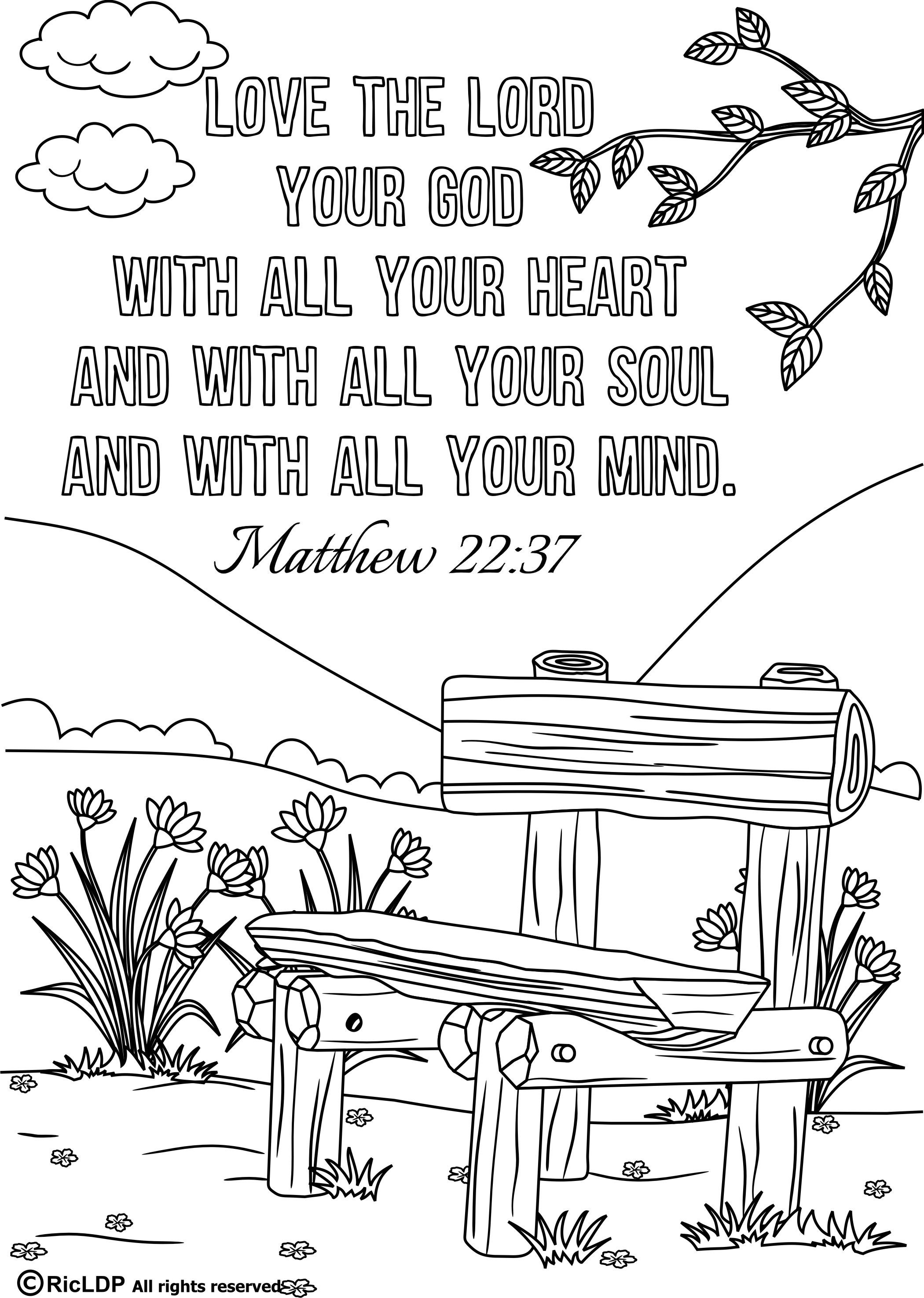 15 Bible Verses Coloring Pages   Christian Coloring Pages-Nt   Bible - Free Printable Bible Coloring Pages With Verses