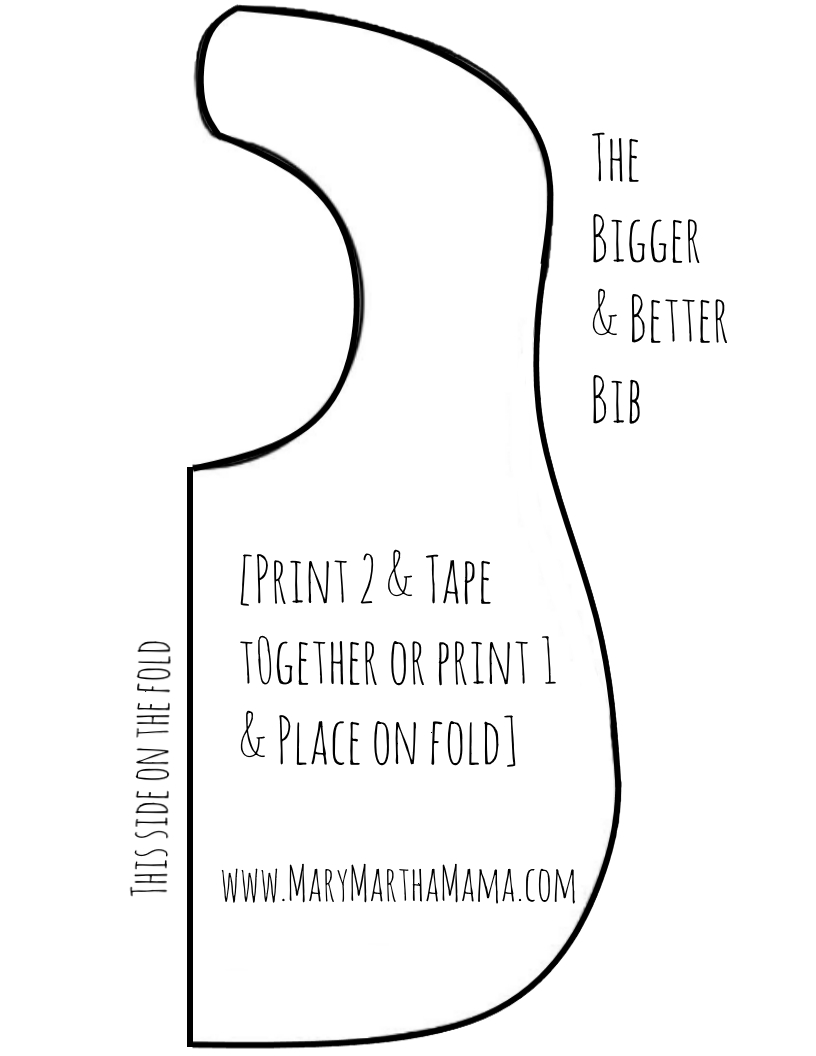 15 Easy Diy Sewing Projects For Beginners | Sewing | Bib Pattern - Free Printable Bib Pattern