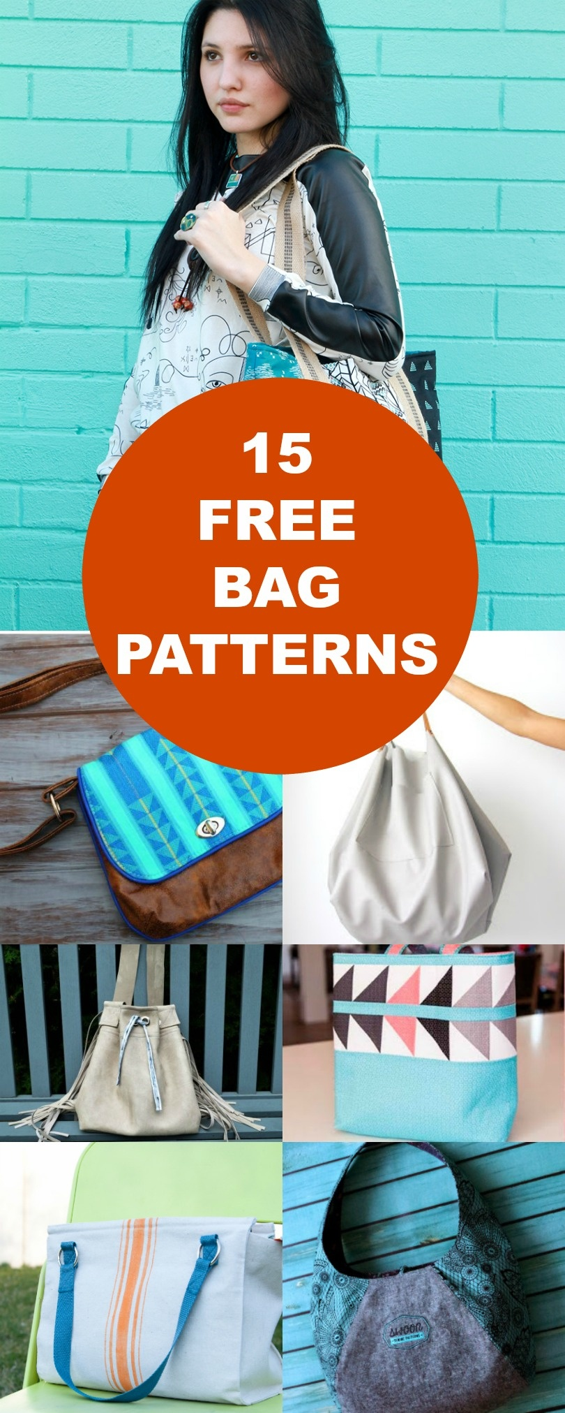 15 Free Bags Patterns   On The Cutting Floor: Printable Pdf Sewing - Handbag Patterns Free Printable