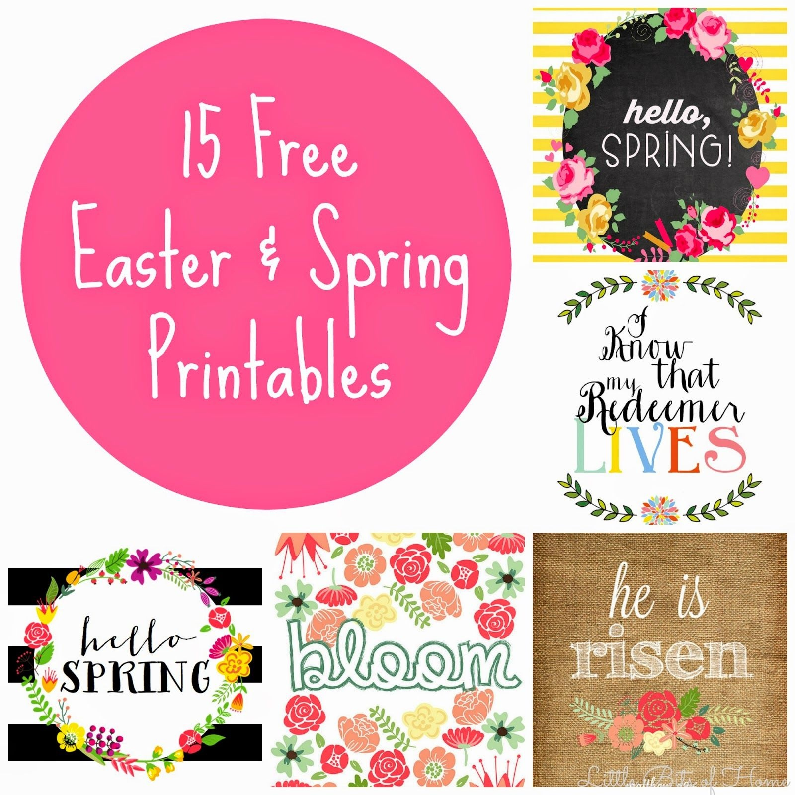 15 Free Spring And Easter Printables | Artsy Stuff | Easter - Free Printable Spring Decorations