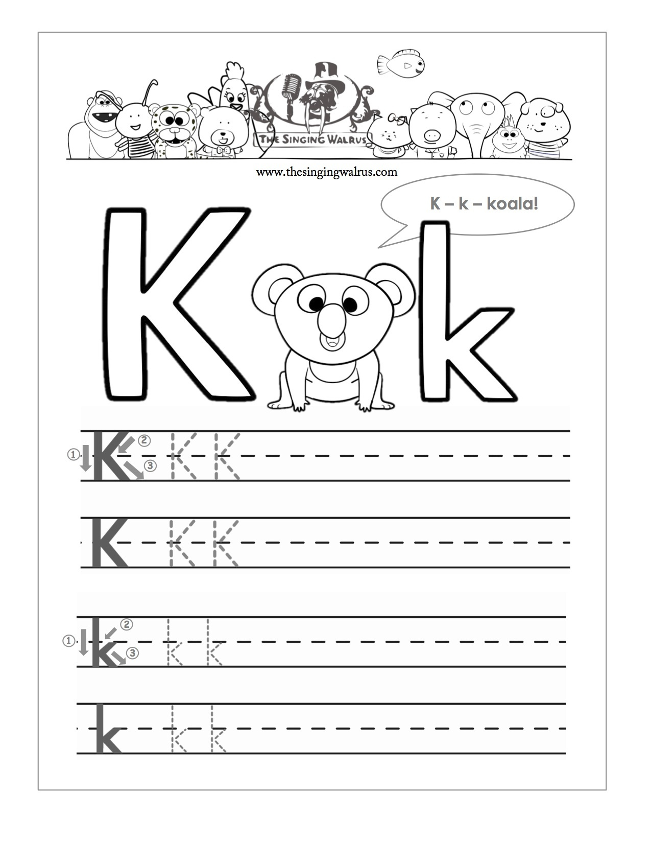 15 Learning The Letter K Worksheets | Kittybabylove - Free Printable Letter K Worksheets