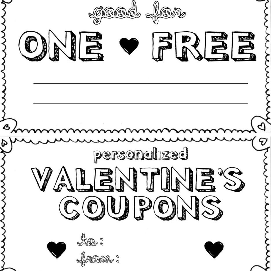 15 Sets Of Free Printable Love Coupons And Templates - Free Printable Coupon Book For Boyfriend