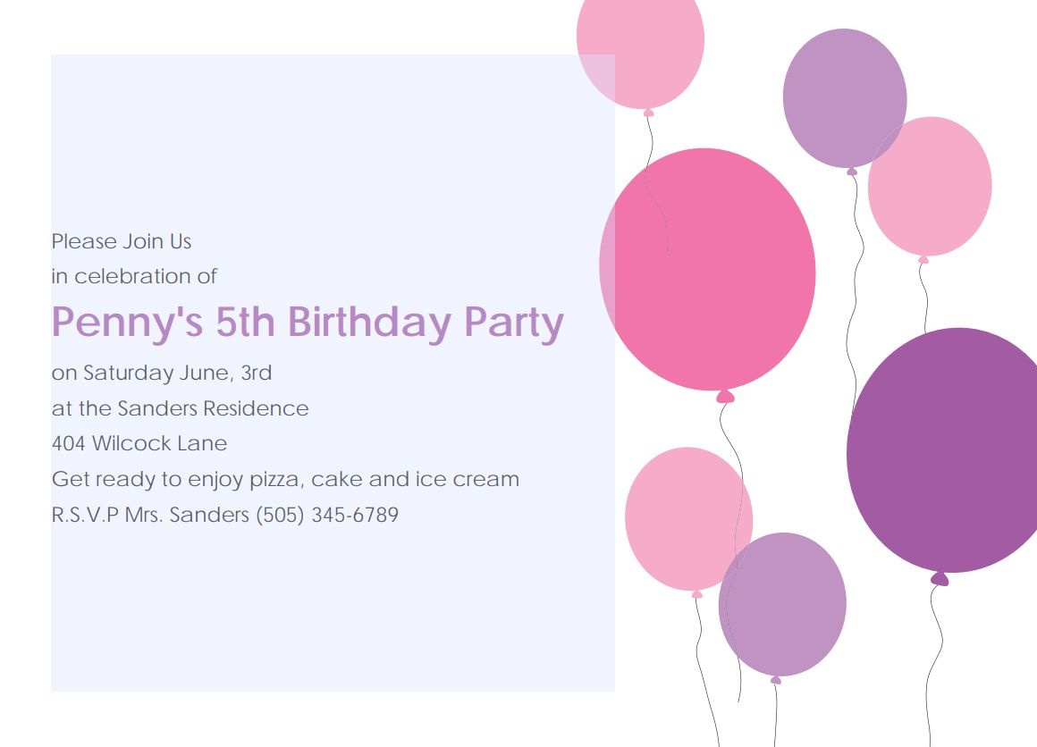 17 Free, Printable Birthday Invitations - Make Your Own Birthday Party Invitations Free Printable