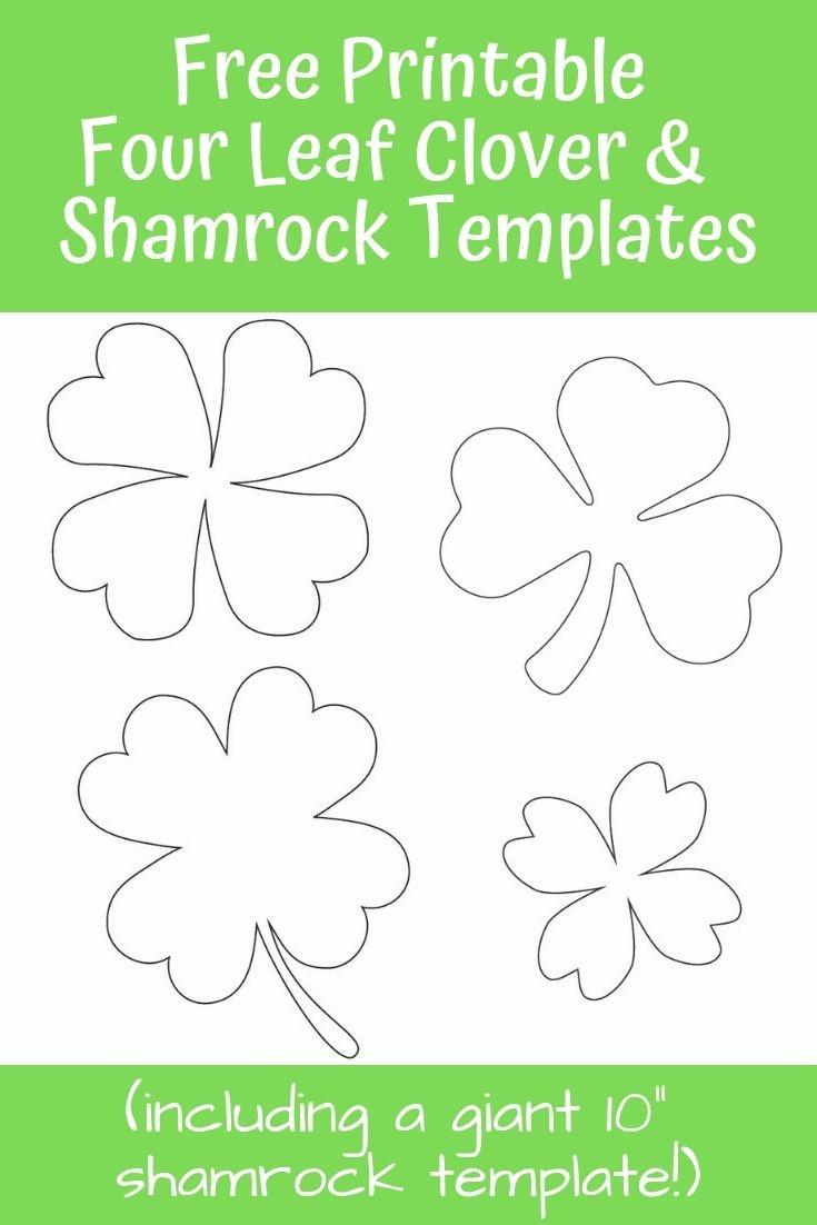 17+ Free Printable Four Leaf Clover & Shamrock Templates | Free - Four Leaf Clover Template Printable Free