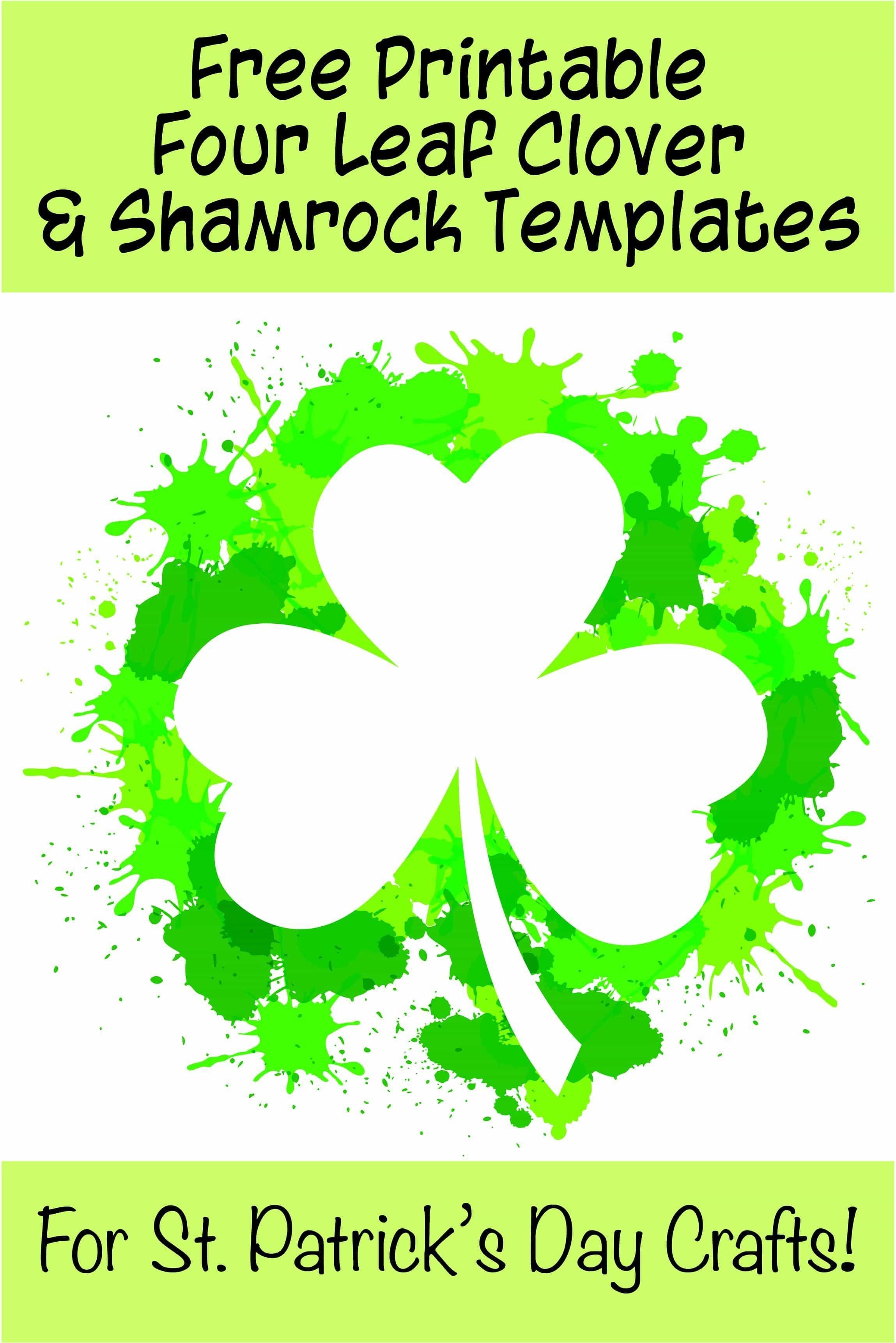 17+ Free Printable Four Leaf Clover & Shamrock Templates   Spring - Free Printable Shamrocks