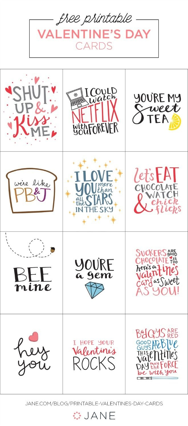 17 Free Printable Valentine Greeting Cards | Valentine's Inspiration - Valentine Free Printable Cards