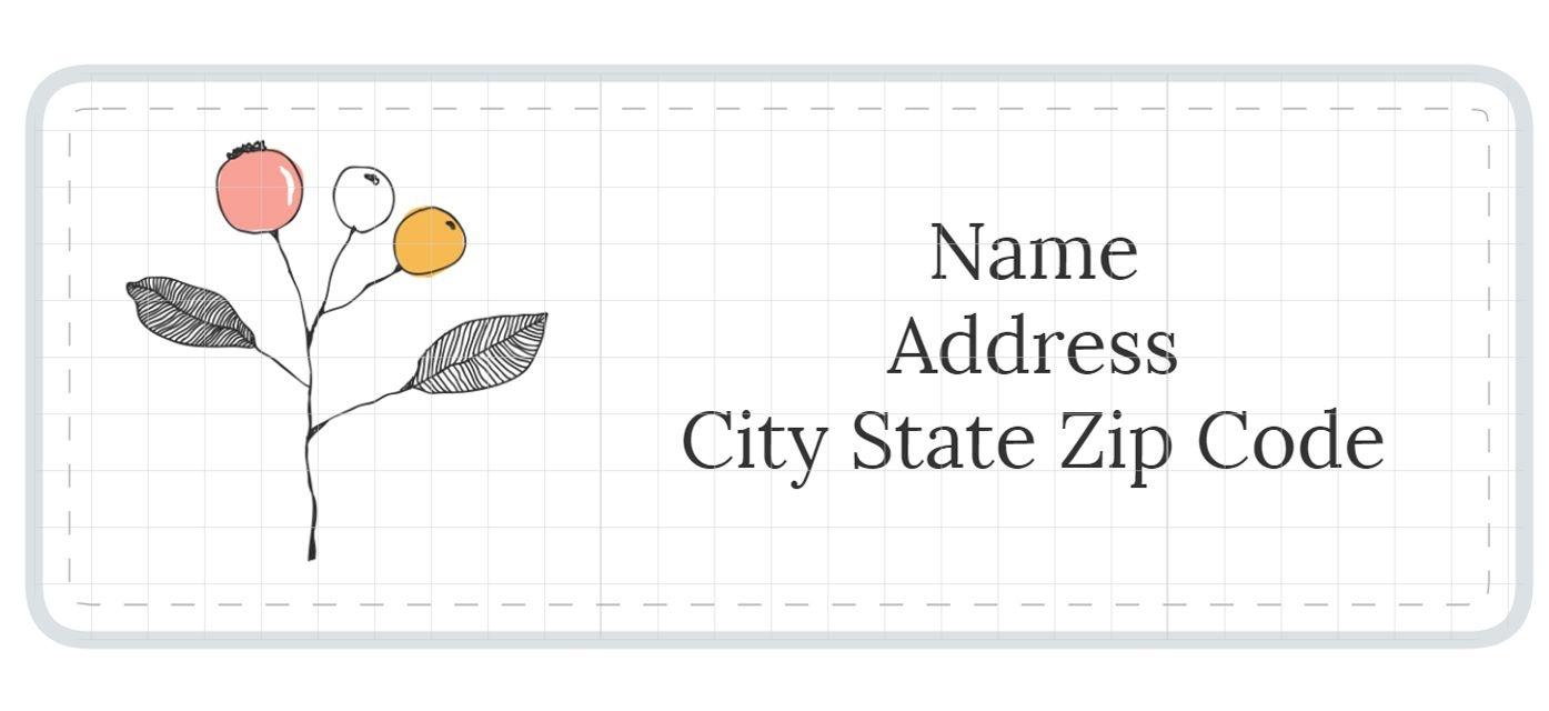 1,789 Address Label Templates - Free Printable Label Templates
