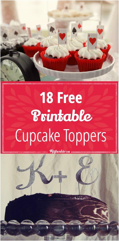 18 Free Printable Cupcake Toppers – Tip Junkie - Cupcake Flags Printable Free