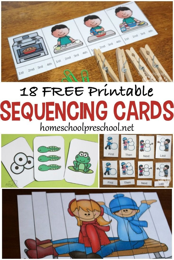 18 Free Printable Sequencing Cards For Preschoolers | Homeschool - Free Printable Sequencing Cards