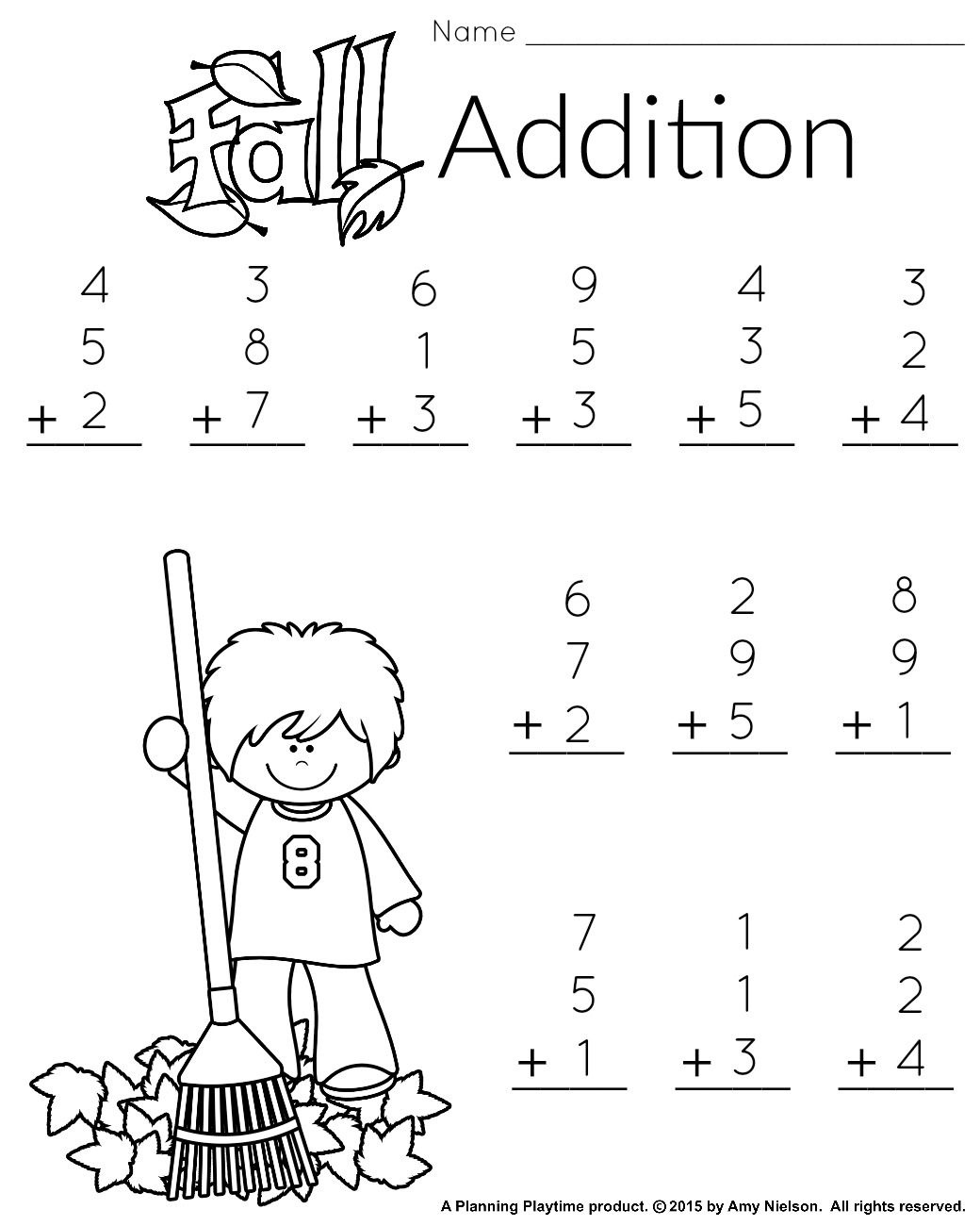 1St Grade Math And Literacy Worksheets With A Freebie! | Teachers - Free Printable Fall Math Worksheets