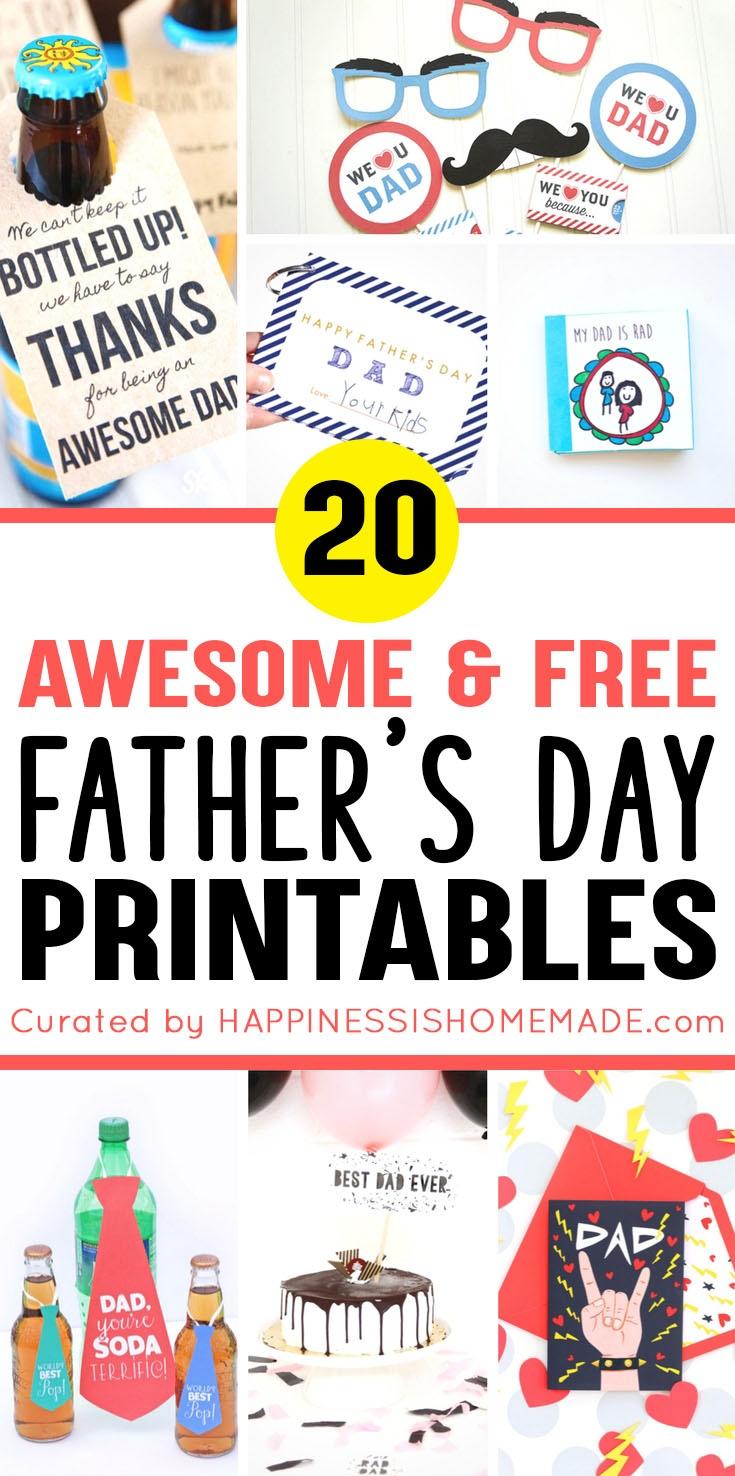 20+ Free Father's Day Printables - Happiness Is Homemade - Free Printable Father's Day Labels
