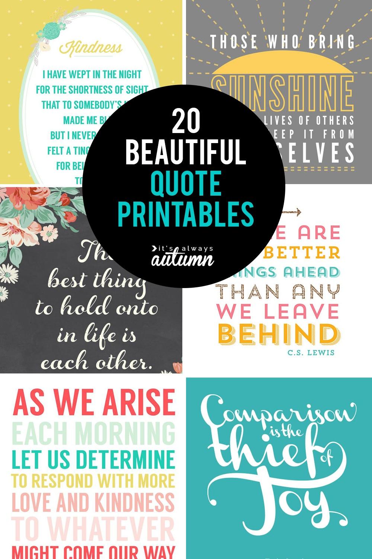 20 Gorgeous Printable Quotes   Free Inspirational Quote Prints - Free Printable Inspirational Quotes