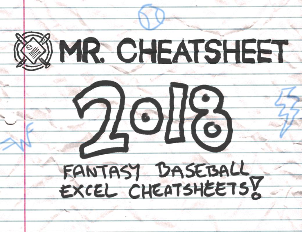 2018 Fantasy Baseball Excel Cheatsheets (Roto And Points Leagues - Free Fantasy Cheat Sheet Printable