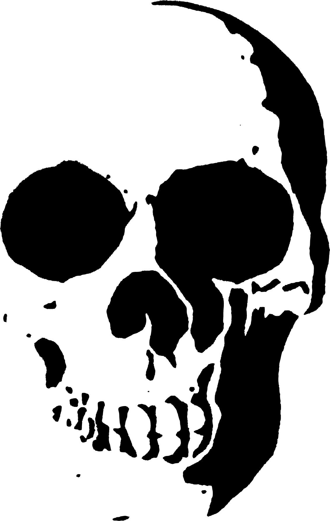 23 Free Skull Stencil Printable Templates   Guide Patterns - Skull Stencils Free Printable