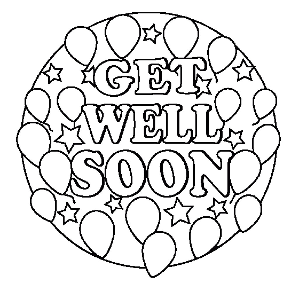 24 Comforting Printable Get Well Cards | Kittybabylove - Free Printable Get Well Cards To Color