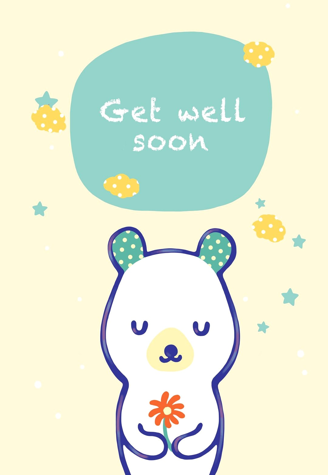 24 Comforting Printable Get Well Cards   Kittybabylove - Free Printable Get Well Soon Cards