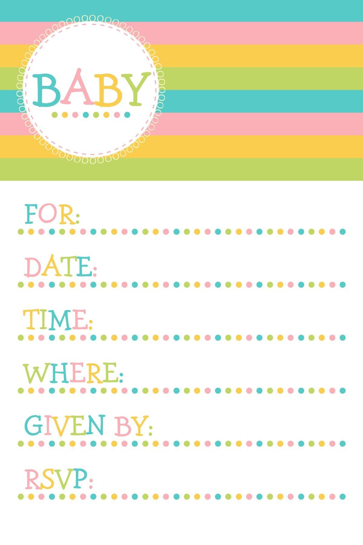 25 Adorable Free Printable Baby Shower Invitations - Free Printable Baby Shower Cards Templates