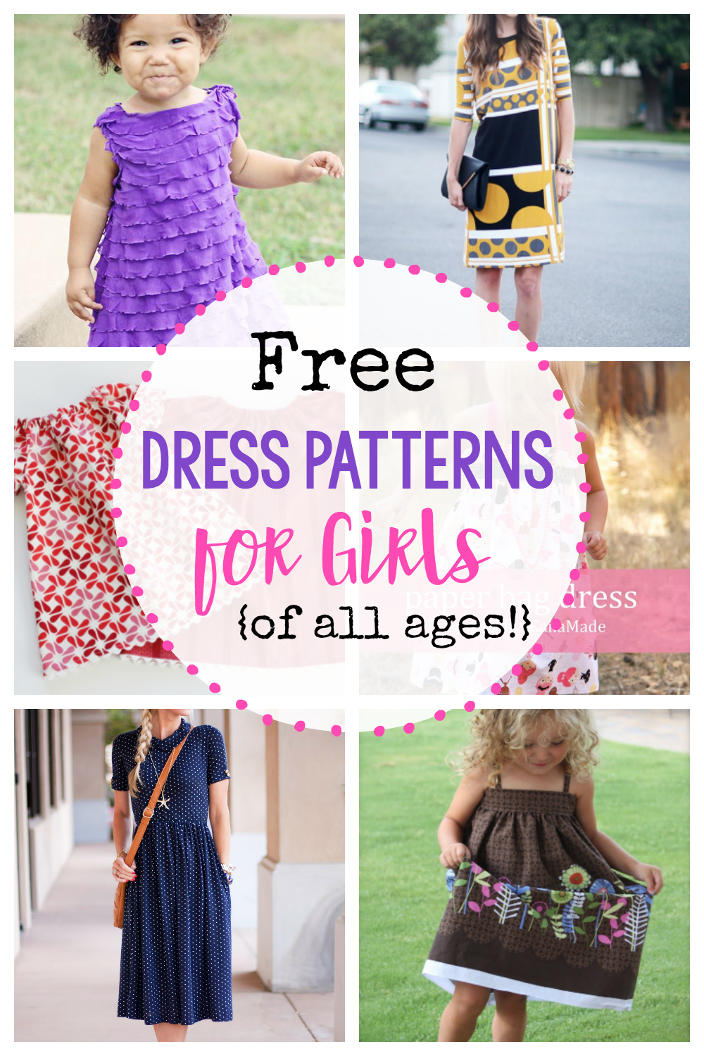 25 Free Dress Patterns For Girls {Of All Ages!} - Crazy Little Projects - Free Printable Sewing Patterns For Kids