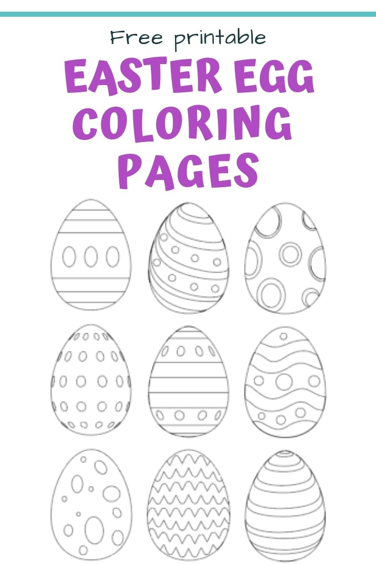 25+ Free Printable Easter Egg Templates & Easter Egg Coloring Pages - Free Printable Easter Basket Coloring Pages