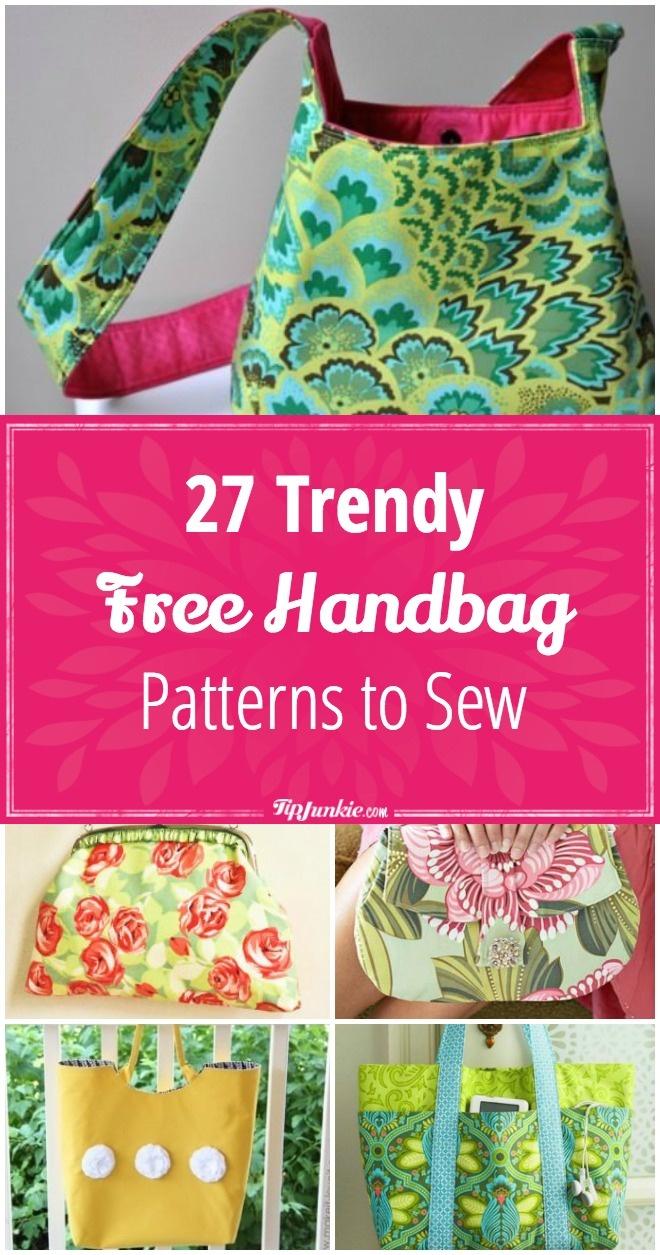 27 Trendy Free Handbag Patterns To Sew – Tip Junkie - Free Printable Purse Patterns To Sew